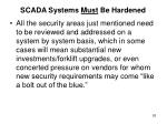scada systems must be hardened