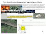 think about information management and target intelligence collection