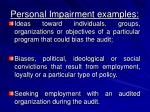 personal impairment examples8