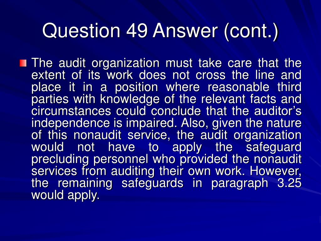 Question 49 Answer (cont.)