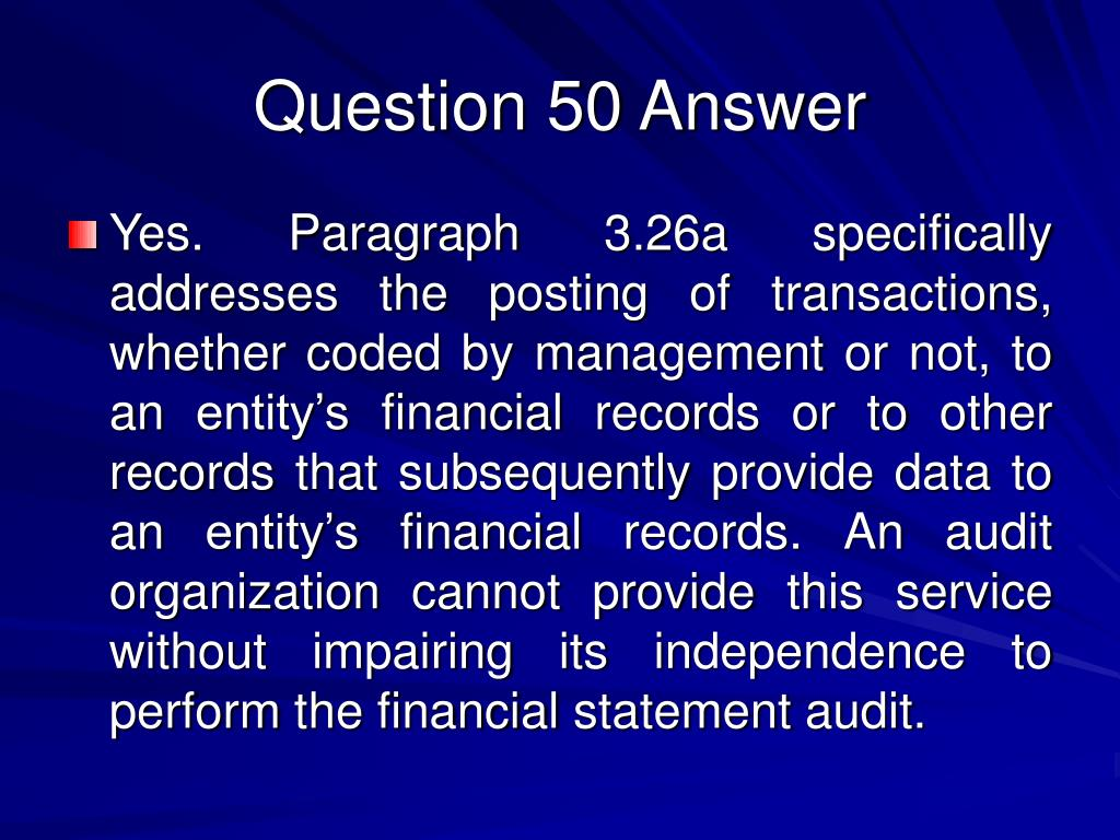 Question 50 Answer