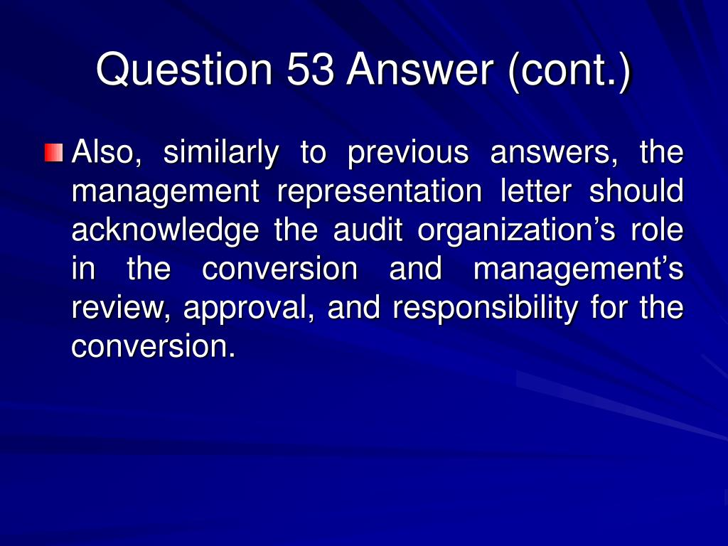 Question 53 Answer (cont.)