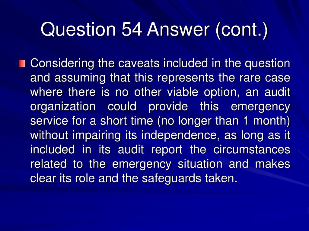 Question 54 Answer (cont.)