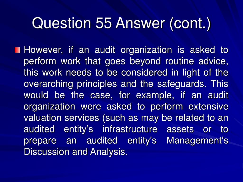 Question 55 Answer (cont.)