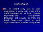 question 55