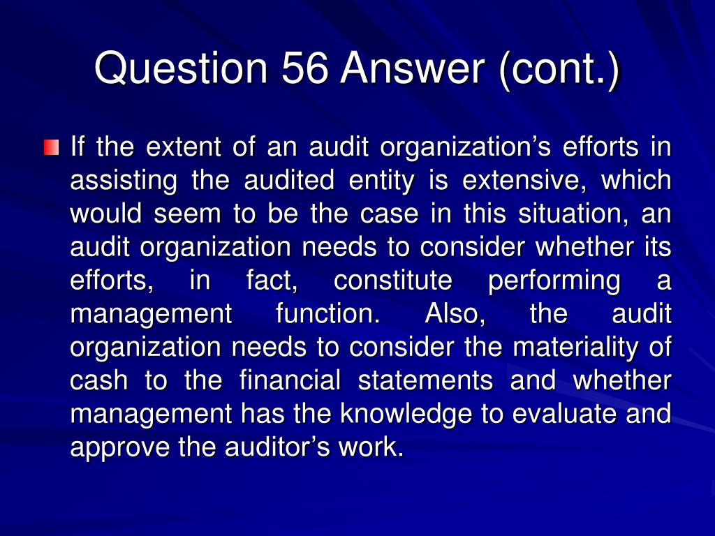 Question 56 Answer (cont.)