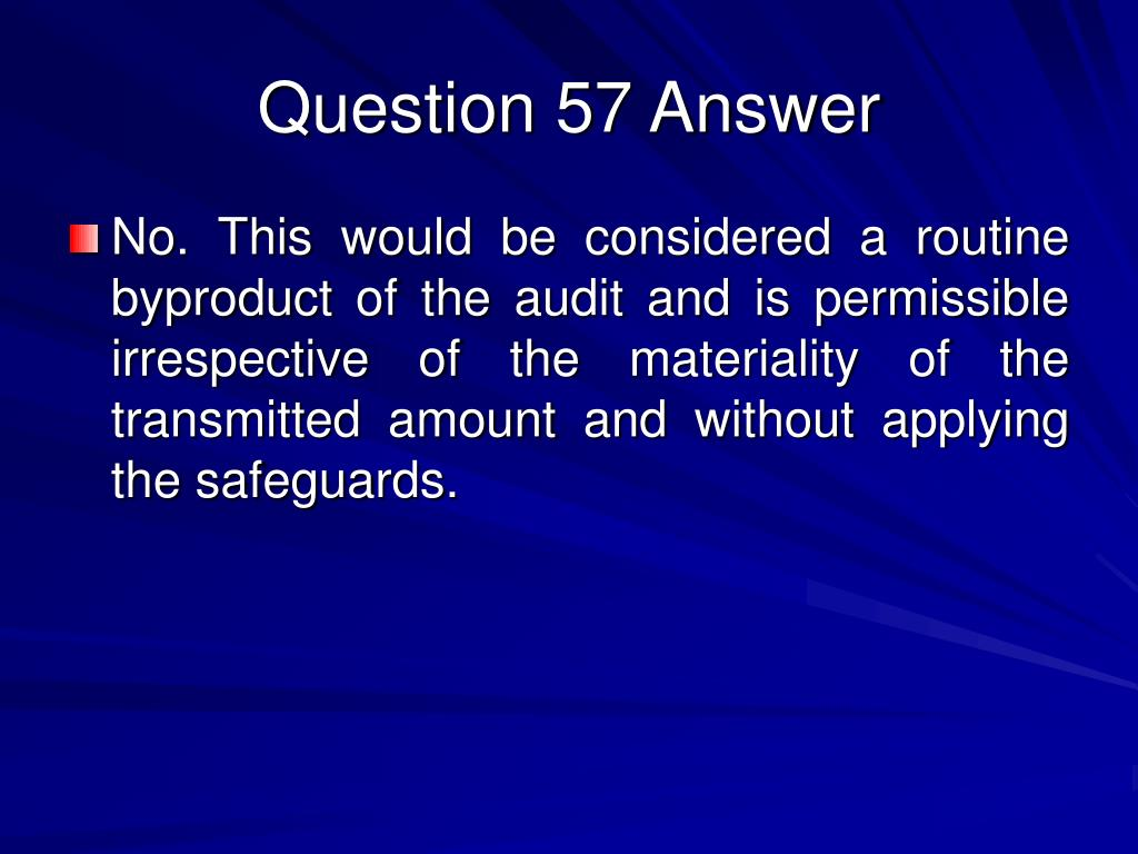 Question 57 Answer