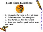 class room guidelines