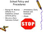 school policy and procedures