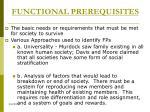 functional prerequisites