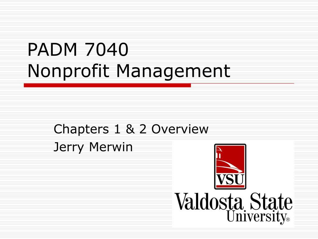 padm 7040 nonprofit management l.