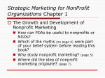 strategic marketing for nonprofit organizations chapter 17