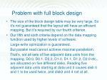 problem with full block design