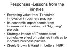 responses lessons from the nineties