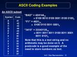 ascii coding examples