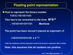 floating point representation9