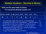 number systems decimal to binary