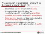 prequalification of diagnostics what will be the impact at country level 3