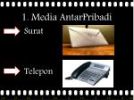 1 media antarpribadi