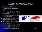 nato warsaw pact