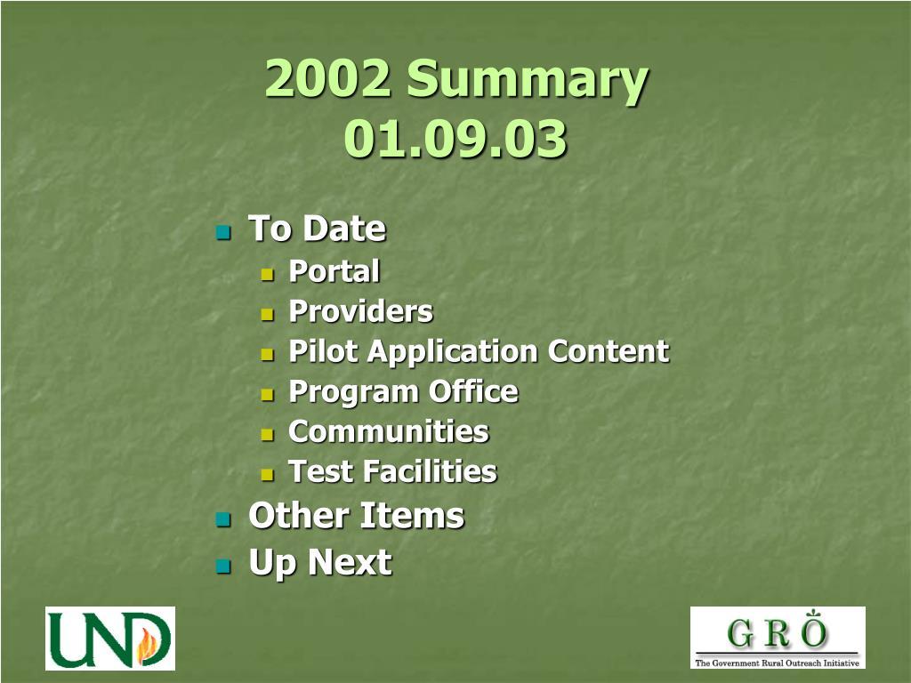2002 Summary