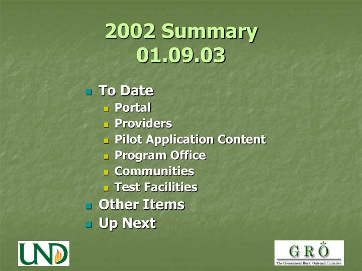 2002 summary 01 09 03