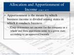 allocation and apportionment of income slide 1 of 3