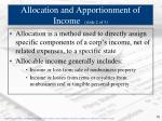 allocation and apportionment of income slide 2 of 3