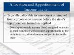 allocation and apportionment of income slide 3 of 3