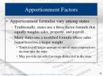 apportionment factors