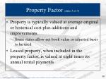 property factor slide 3 of 3