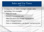 sales and use taxes slide 2 of 3