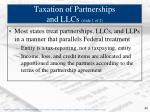 taxation of partnerships and llcs slide 1 of 2