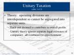 unitary taxation slide 1 of 2