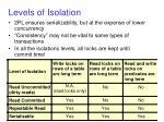 levels of isolation
