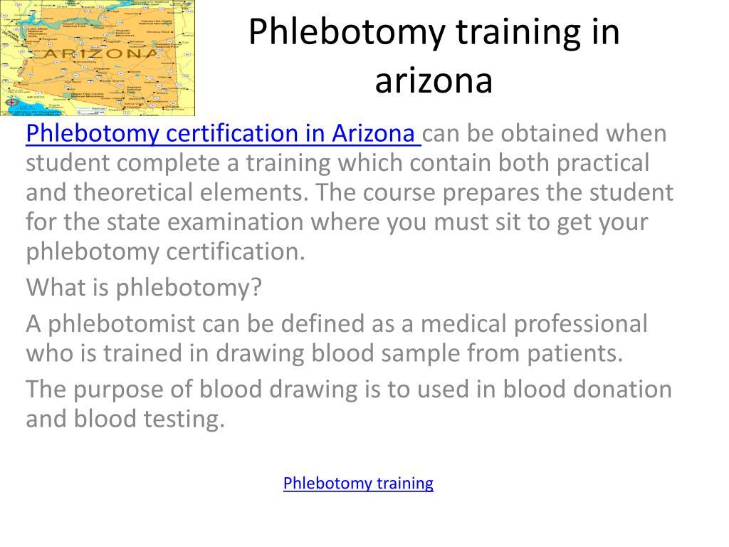 phlebotomy training in arizona l.