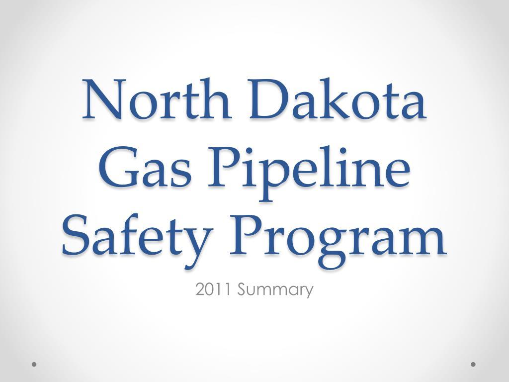 north dakota gas pipeline safety program l.