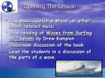 opening the lesson