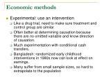 economic methods