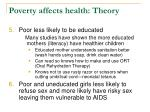 poverty affects health theory20