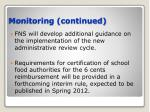 monitoring continued44