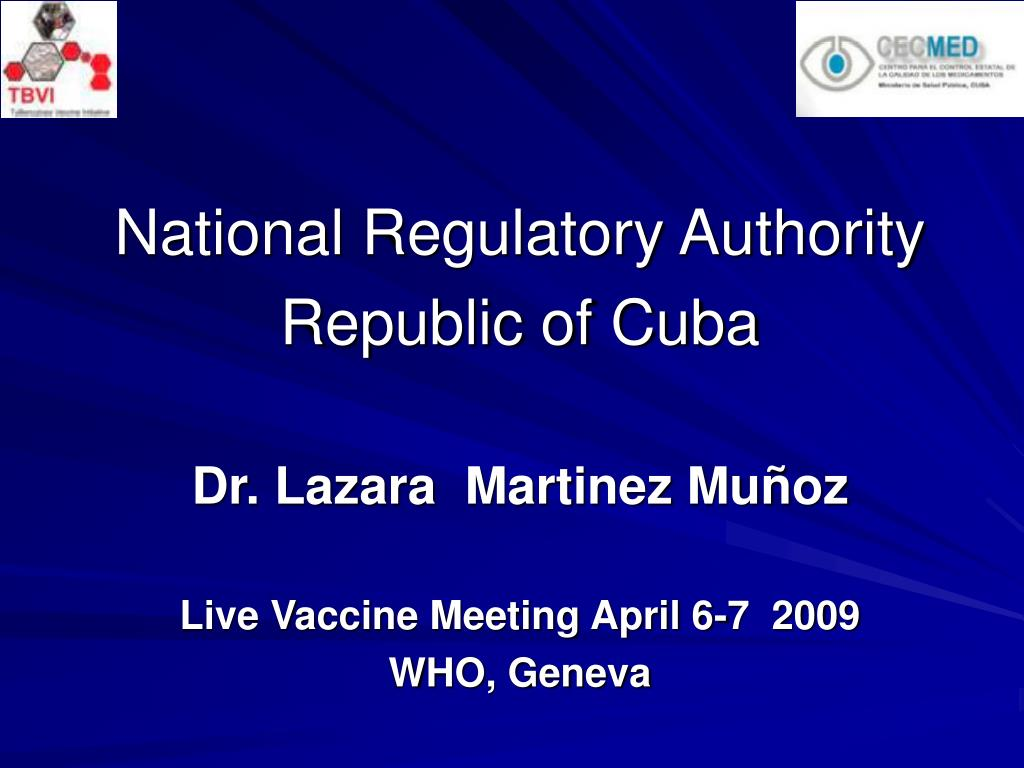 national regulatory authority republic of cuba l.