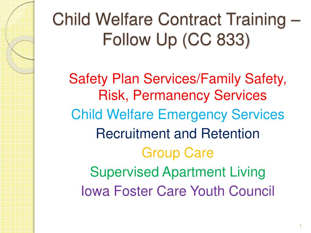 child welfare contract training follow up cc 833 l.