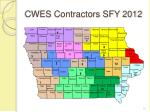 cwes contractors sfy 2012