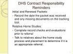 dhs contract responsibility reminders