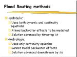 flood routing methods