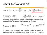 limits for d x and d t11