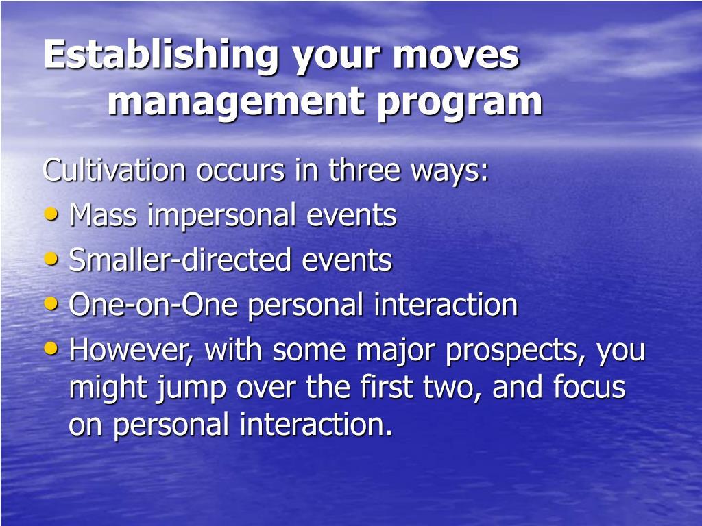 Establishing your moves management program