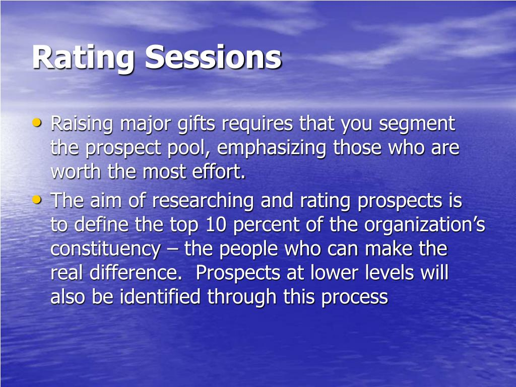 Rating Sessions
