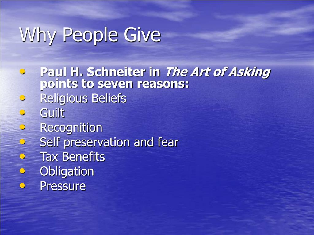 Why People Give